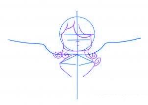 dessiner un ange de noel - etape 2