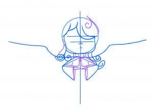 dessiner un ange de noel - etape 3