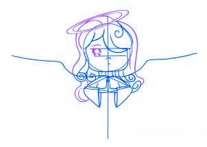 dessiner un ange de noel - etape 4