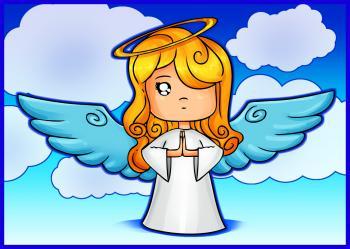 dessin d-un ange de noel terminé