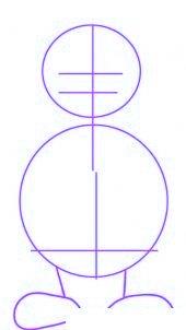dessiner un pere noel facilement - etape 1