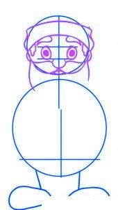 dessiner un pere noel facilement - etape 2