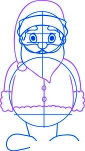 dessiner un pere noel facilement - etape 3