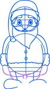 dessiner un pere noel facilement - etape 4