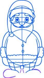 dessiner un pere noel facilement - etape 5