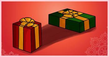 dessin des cadeaux de noel terminé