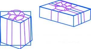 dessiner des cadeaux de noel - etape 3