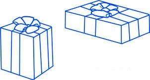 dessiner des cadeaux de noel - etape 4