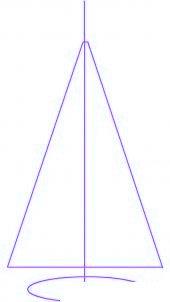 dessiner un sapin de noel - etape 1