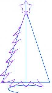 Comment dessiner un sapin de no l 2 allodessin - Sapin a dessiner ...