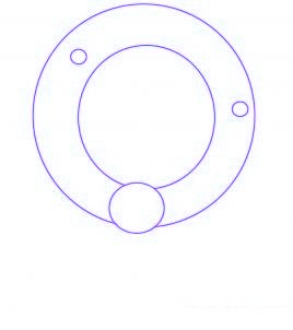 dessiner une couronne de noel - etape 1
