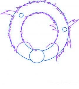dessiner une couronne de noel - etape 2