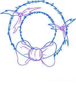 dessiner une couronne de noel - etape 3
