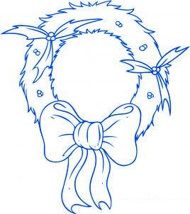dessiner une couronne de noel - etape 5