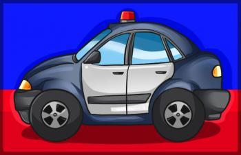 dessin de voiture de police termin