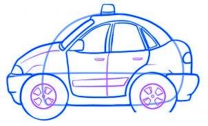 dessiner une voiture de police - etape 4