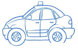 dessiner une voiture de police - etape 5