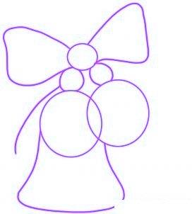dessiner des cloches de noel - etape 1