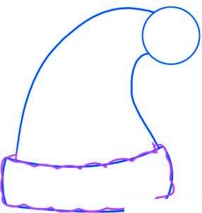 dessiner le bonnet du pere noel - etape 2