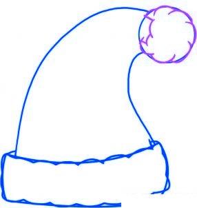 dessiner le bonnet du pere noel - etape 3