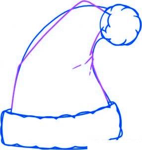 dessiner le bonnet du pere noel - etape 4
