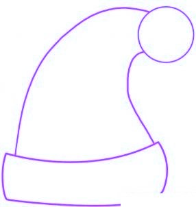 Comment dessiner le bonnet du p re no l allodessin - Comment dessiner un pere noel facilement ...