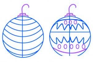 dessiner des boules de noel - etape 3