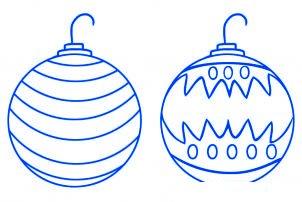 dessiner des boules de noel - etape 4