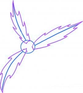 dessiner du houx de noel - etape 2