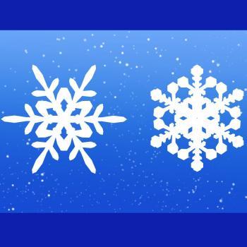 dessin de flocon de neige de noel terminé