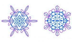un flocon de neige a imprimer - etape 3
