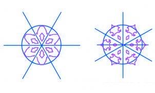 Comment dessiner un flocon de neige de noël #2 | AlloDessin