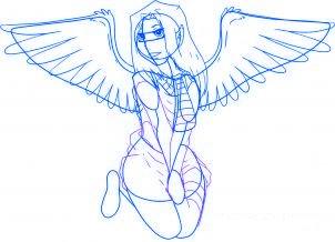dessiner un ange de noel - etape 5