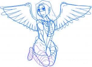 dessiner un ange de noel - etape 6