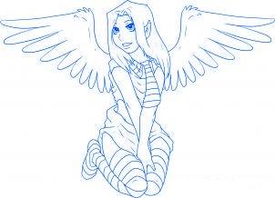 dessiner un ange de noel - etape 7