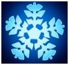 dessin de flocon de neige de noel