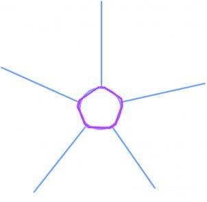 dessiner un flocon de neige de noel - etape 2