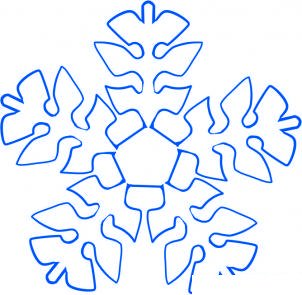 how to draw a pretty snowflake