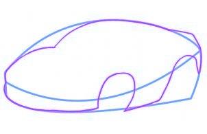 dessiner une voiture de course - etape 2