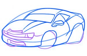 dessiner une voiture de course - etape 4