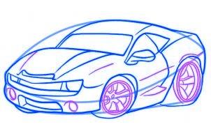 dessiner une voiture de course - etape 5