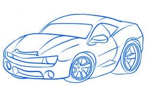 dessiner une voiture de course - etape 6