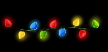 dessin de guirlande lumineuse de noel terminé