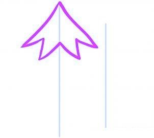 dessiner un sapin de noel - etape 2
