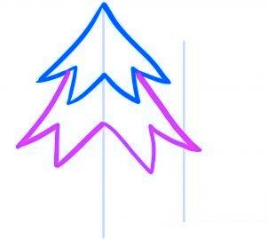 Comment dessiner un sapin de no l 4 allodessin - Sapin a dessiner ...