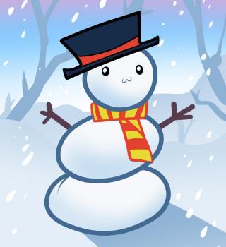 dessin de bonhomme de neige de noel terminé