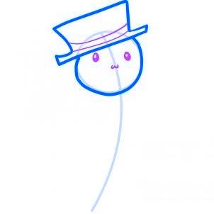 Dessiner un bonhomme de neige facile - etape 3