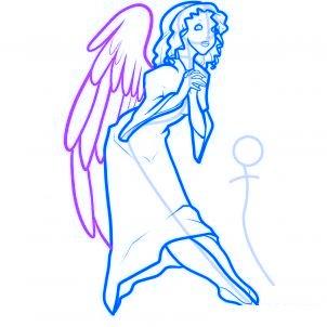 dessiner des anges de noel - etape 8