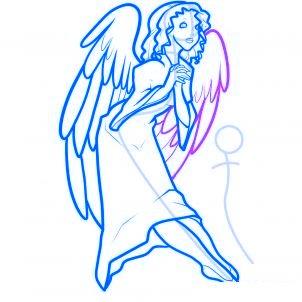 dessiner des anges de noel - etape 9