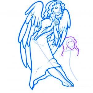 dessiner des anges de noel - etape 10